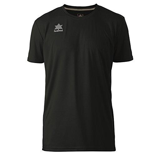 Luanvi Pol Herren-T-Shirt, kurzärmelig L Schwarz