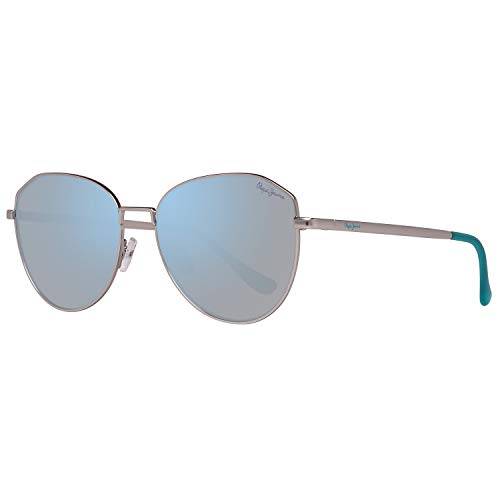 Pepe Jeans PJ5137C455 Sonnenbrille PJ5137 C4 Keely Oval Sonnenbrille 55, Silber