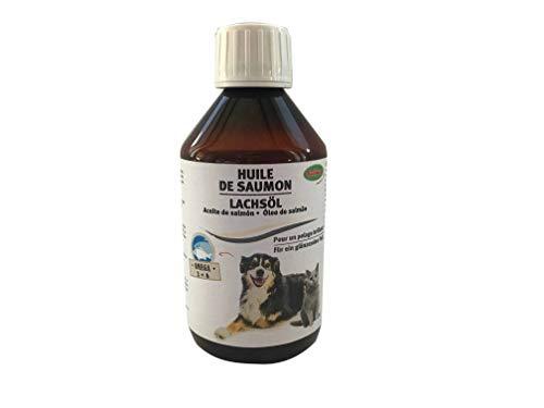 Bubimex - Aceite de salmón para Perro, Botella de 250 ml,