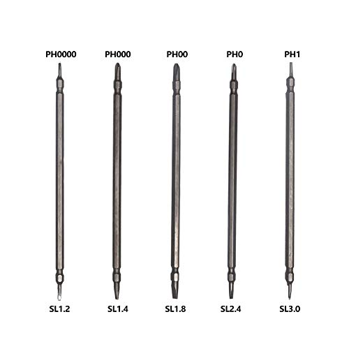 KER Mini Screwdriver Set, Eyeglass Repair Tool Kit, 5PCS Double Head Precision Screw Driver with Flathead and Phillips for Glasses, Electronics, Toys, Watches
