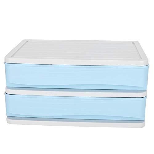 Home Organizer Caja de Almacenamiento Impermeable Azul, Caja de Almacenamiento de Escritorio, Oficina para Mujeres para niñas en casa