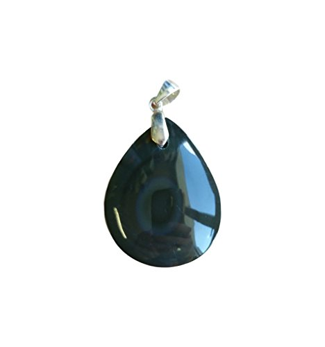 WLM Pendentif Goutte avec bélière en Obsidienne Oeil céleste