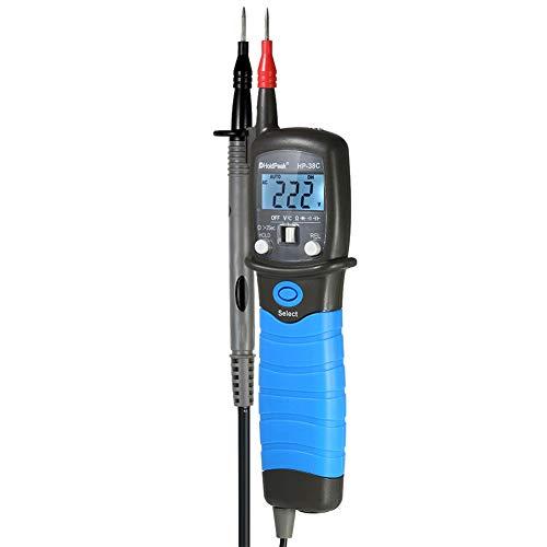 Gtest Tipo de lápiz multímetro Digital, Rango automático Voltaje AC/DC Pantalla LCD capacitancia Herramientas de medición de Voltaje medidor de capacitancia