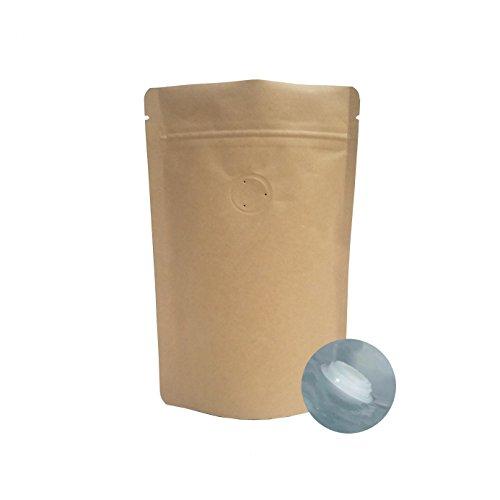 AwePackage - Bolsas de papel kraft con cremallera para café, con válvula de aroma