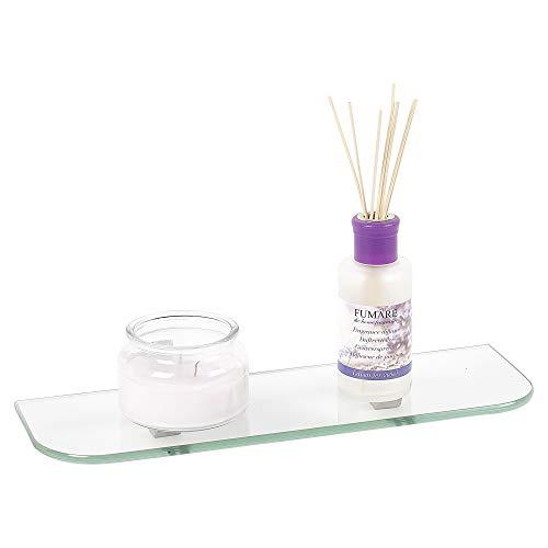 URBNLIVING transparente geschwungene Glasregale für Schlafzimmer, Badezimmer, Wohnzimmer, Heimdekoration, in 3 Größen erhältlich, 40x13cm