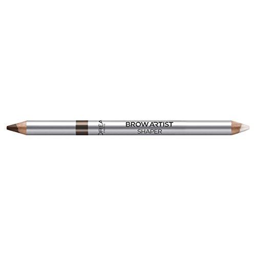 L\'Oréal Paris Super Liner Brow Artist, 03 Brunette - Augenbrauen-Stift mit praktischem Bürstchen und fixierendem Wachs - für perfekt geformte & betonte Augenbrauen, 1er Pack (1 x 1 g)