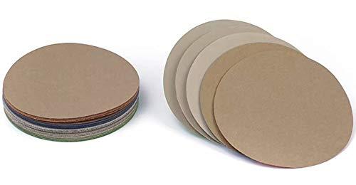 Runde, Nasse, Trockene Wasserschleifscheiben Körnung 3000/4000/5000/7000/10000 Klett-Schleifpapier-Scheibe Sandblatt 20 Teile/los 125 mm, 5 Zoll, Sortiertes set