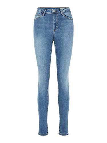 Vero Moda Vmsophia HW Skinny Jeans Lt Bl Noos Ci Vaqueros, Azul (Light Blue Denim Light Blue Denim), W31/L30 (Talla del Fabricante: Large) para Mujer