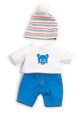Miniland 31677 Puppenkleidung, weiß, blau, 21cm