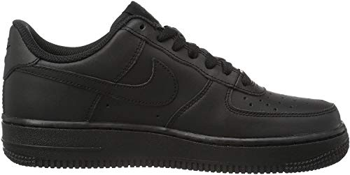 Nike Air Force 1 Gs 314192_Synthetik Unisex-Kinder Low-Top Sneaker, Schwarz (009 BLACK/BLACK-BLACK), 38 EU