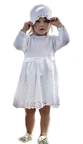 HOBEA-Germany Baby Taufkleid Blumenmädchen Festkleid, Modell: Johanna, Größe Kleider:80