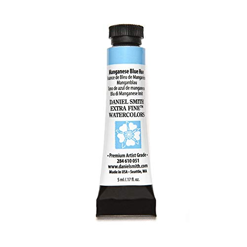 DANIEL SMITH Extra Fine Watercolor Paint, 5ml Tube, Manganese Blue Hue, 284610051