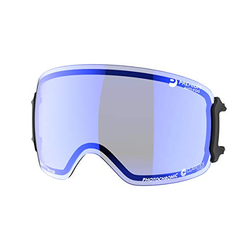 SWANS(スワンズ) スキー スノーボード ゴーグル スペアレンズ プレミアムアンチフォグ 撥水 RIDGELINE用 LRL-5191_BLLSM MITブルーミラー×ライトスモーク偏光