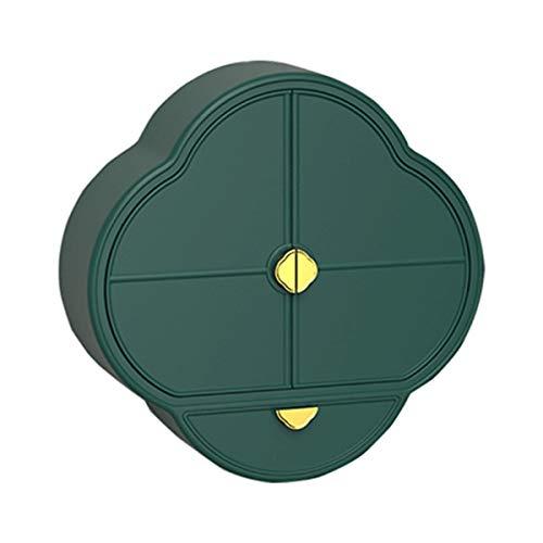 Nvshiyk Maquillage des boîtes de Rangement Basin de lavabo cosmétique cosmétique Mural de Lavage Mural pour Meuble-lavabo et comptoir (Couleur : Vert, Size : 38x38x12cm)
