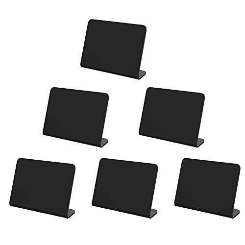 SOIMISS 6 Piezas Mini Pizarra Signo Acrílico Pizarra Pequeña Etiqueta de Buffet Panadería Tablero de Mensajes Líquido Tiza Marcador para Boda Lugar Tarjeta Mesa Número Comida Menú