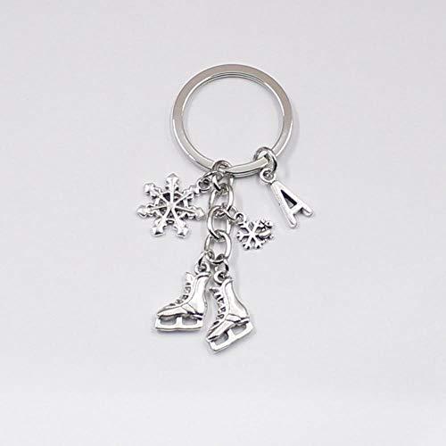 ARR Ice Skates Snowflake Pendant Key,K