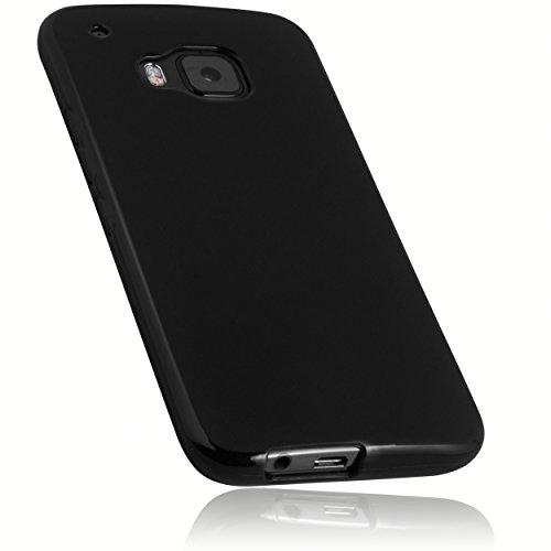 mumbi Hülle kompatibel mit HTC One M9 Handy Hülle Handyhülle, schwarz