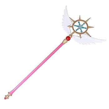 Mtxc Cardcaptor Sakura  Clear Card Cosplay Prop Sakura Kinomoto Wand Pink