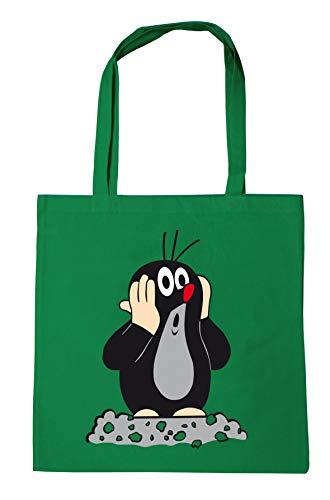 Logoshirt - Sac de courses - Sac Cabas réutilisables La petite taupe - Taupek - vert