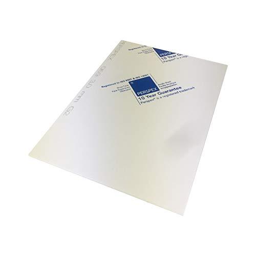 Marken Acrylglas Platte, Größe A4 oder 297x210mm, 3mm stark, Kunststoff für Modellbau, Haus und Garten, Schriftfarbe:weiß