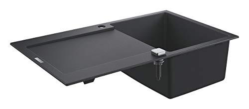 GROHE K500   Kompositspüle mit Abtropffläche   granit schwarz   31644AP0