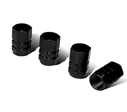 IJDMTOY(4)튜너 레이싱 스타일 블랙 알루미늄 타이어 밸브의 모자(육각형 모양)
