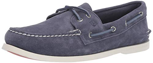 Sperry Mens A/O 2-Eye Summer Suede Boat Shoe, Navy, 9.5