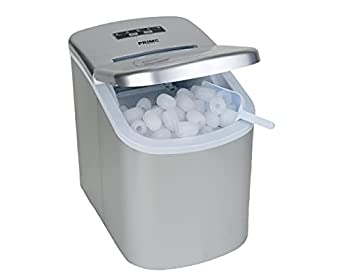 Prime Home Direct Ice Makers Countertop - Ice Maker Machine for Counter top Makes Ice Cubes in 8 Minutes 26 Lbs of Ice in 24 Hrs - Ice Machine includes Scoop and Basket - Portable Ice Maker - Silver
