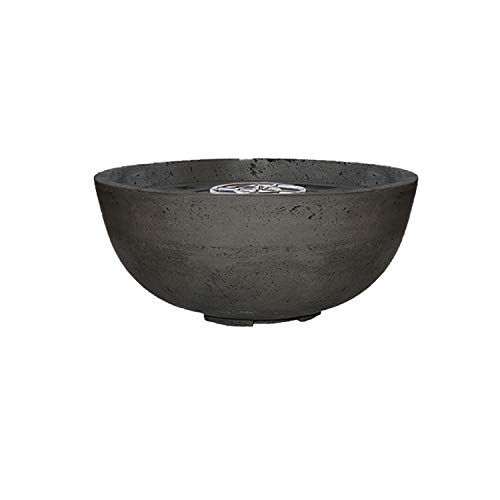 Read About Prism Hardscapes Moderno 1 Concrete Gas Fire Pit (PH-400-2LP), Propane, Ebony, 39-Inch