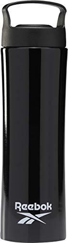 Reebok TS Metal Bottle 700 ml Sport- und Fitness-Trinkflasche für Erwachsene, Unisex, Schwarz (Schwarz), Einheitsgröße