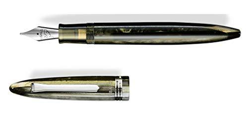 Penna stilografica Tibaldi Bononia Martini Olive F