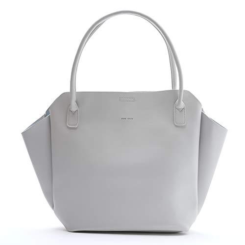 Ashton Compartments Grey 18 x 12 Vegan Leather Basic Multipurpose Backpack