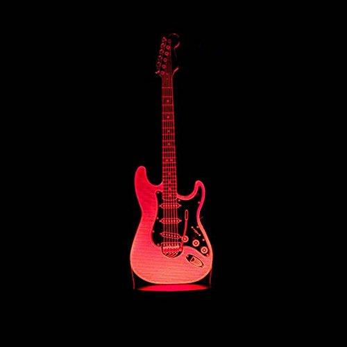 Led-nachtlampje met 7 kleuren, nachtlampje, muziekinstrument voor gitaar, kinderen, kinderkamer, hal, kleuterschool, partycadeau