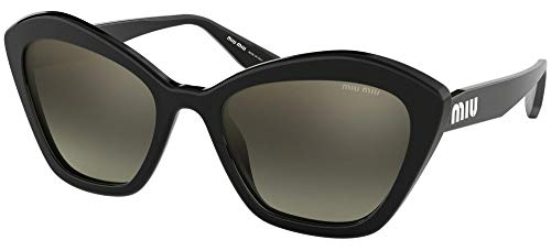 miu miu Occhiali da Sole SMU 05U Black/Grey Shaded Donna