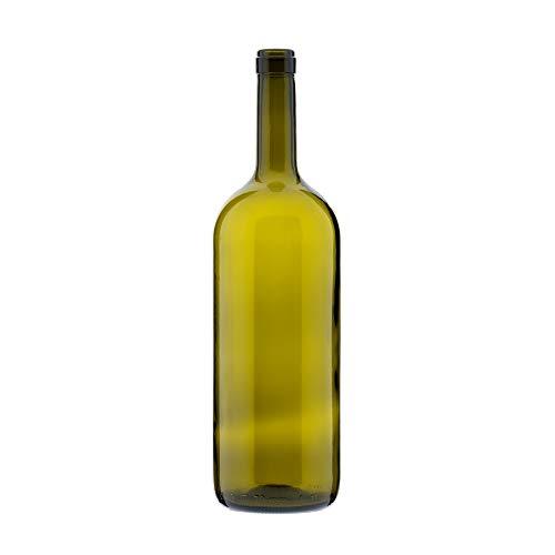 TAPAS & ENVASES RIOJA Botella de Cristal Decorativa de Vino de Gran cantidad de 1,5 litros Botellas Decorativas para vinos Ideal para ferias o exposiciones