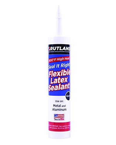 Rutland Seal it Right - Látex de 800 Grados, Cartucho de 10,3 onzas, Color Negro