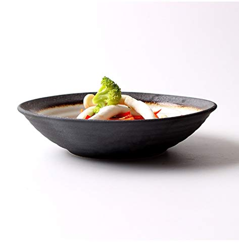 WSHFHDLC Cuenco de la Cultura Popular 7 Pulgadas tazón de cerámica Japonesa Bol/tazón de Salsa de Inicio/Caliente/tazón de Restaurante/Fruta ensaladera/Plato de Sushi Hilo/Trabajos/Punto Wangao /