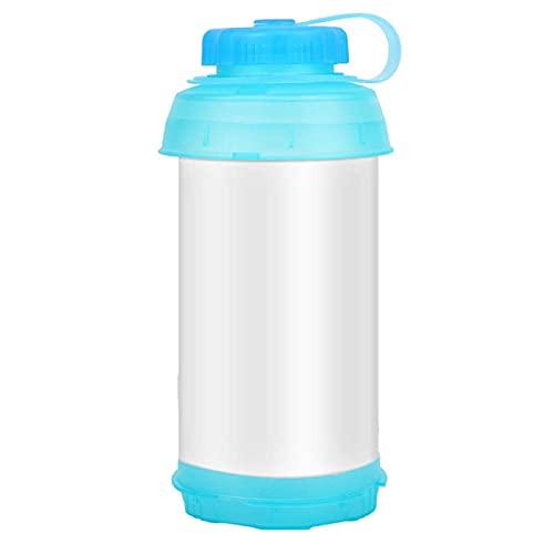 JQDMBH Botella Agua,Botella de Agua Plegable Botella Deportiva 750 ml Capacidad Grande...