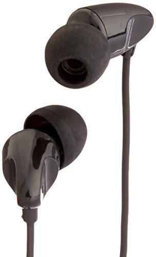 AmazonBasics - Auriculares in-ear con micrófono universal, color negro
