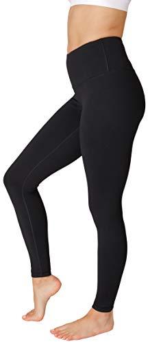 90 Degree By Reflex - High Waist Power Flex Legging – Tummy Control - Black Medium
