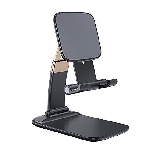 YANFANG 2020 Soporte telescópico Plegable de elevación Ajustable del Tenedor la Tableta teléfono móvil Escritorio Tablet multiángulo Mesa Plegable, Aluminio con Varilla Doble Compatible (Black)