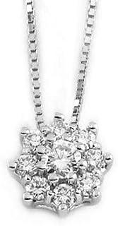 Gems&Gold srl Pendente in Oro Bianco e Diamanti 0,40 Carati