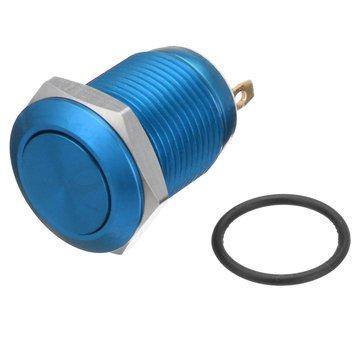 TuToy 5A / 16V 12Mm 2Pin Knopfschalter Edelstahl Momentan Druckknopfschalter Flat Top 5 Farbe - Blau
