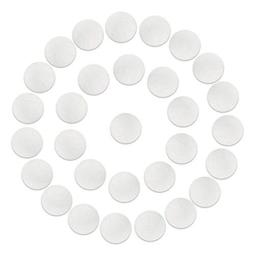 30 x Badezimmer Anti Rutsch Sticker | Sossai BADGIO (Durchmesser 10cm, 30 Stück) | Transparent | Selbstklebend | Badezimmerboden Badewanne Dusche
