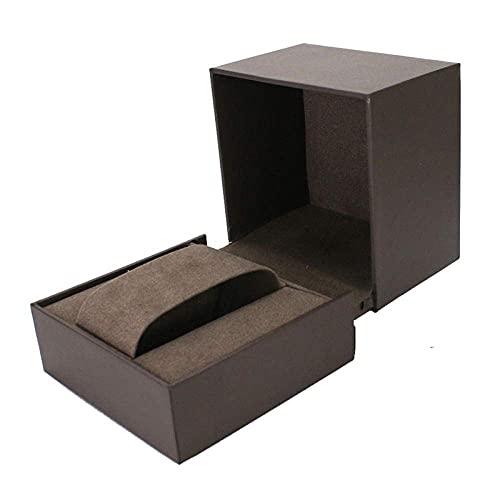 LGR Caja de joyería Caja de Reloj Cajas de joyería Hombres Viajes Mujeres Regalo Caja de Almacenamiento de exhibición de joyería de plástico 10 * 10 * 10Cm