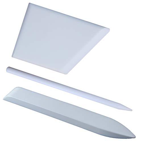 Crafty Gnome Teflon Bone Folder Kit - 100% Teflon, Extra Smooth, White, Premium Quality for Scoring, Folding, Creasing, Bookbinding, Origami, Scrapbooking & More