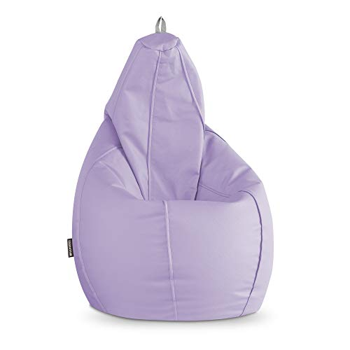 HAPPERS Puff Pera Polipiel Interior Lavanda XL