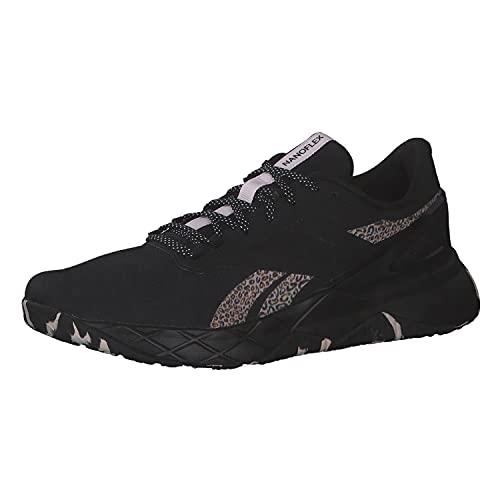 Reebok Women's Shoes Nanoflex TR Fitness Cross Training Athletic Gym Sports (Core Black/Frost Berry/Quartz Met, Numeric_7_Point_5)