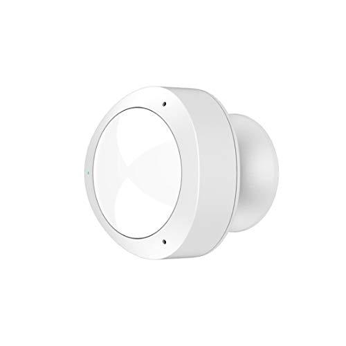 Hama Detector de Presencia/Movimiento wi-fi (con función de Alarma/luz, Sensor de Movimiento infrarrojo, notificación de Alarma en el móvil, Compatible con ifttt, Funcionamiento de la Red/baterí