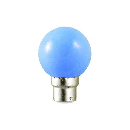 Vision-EL 77643C Ampoule LED, Aluminium/Polycarbonate, B22, 1 W, Bleu, (H x L)-67 x 45 mm 77643C